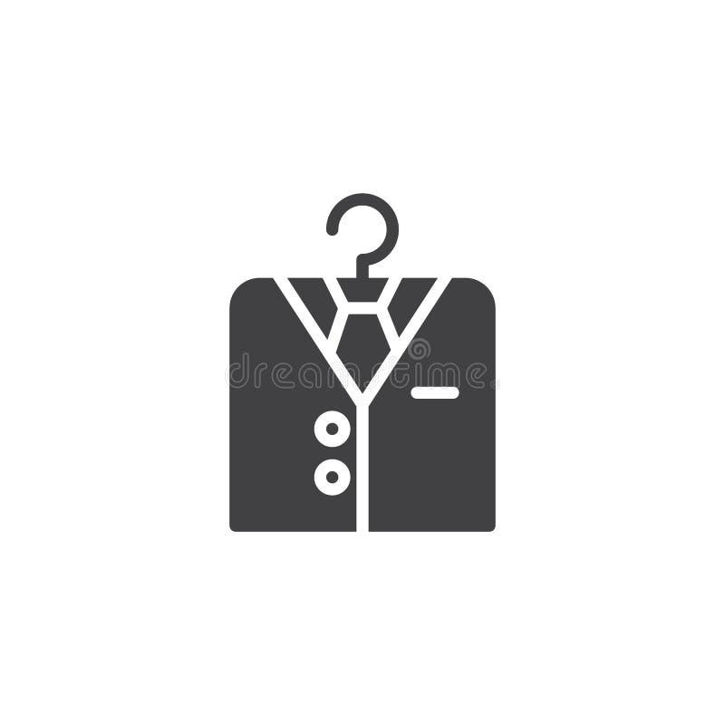Camisa no ícone do vetor do gancho ilustração do vetor