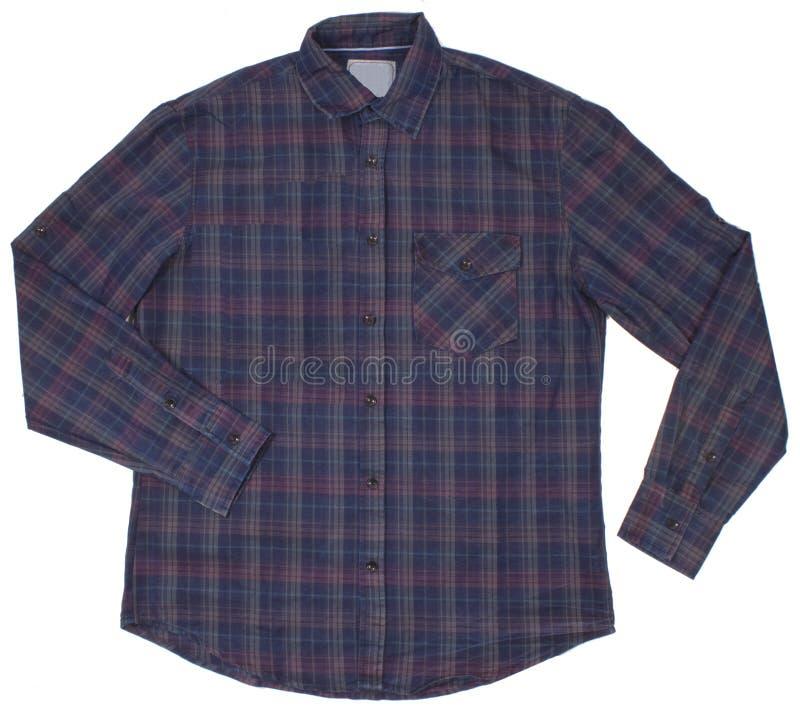 A camisa quadriculado dos homens Isolado no branco foto de stock royalty free