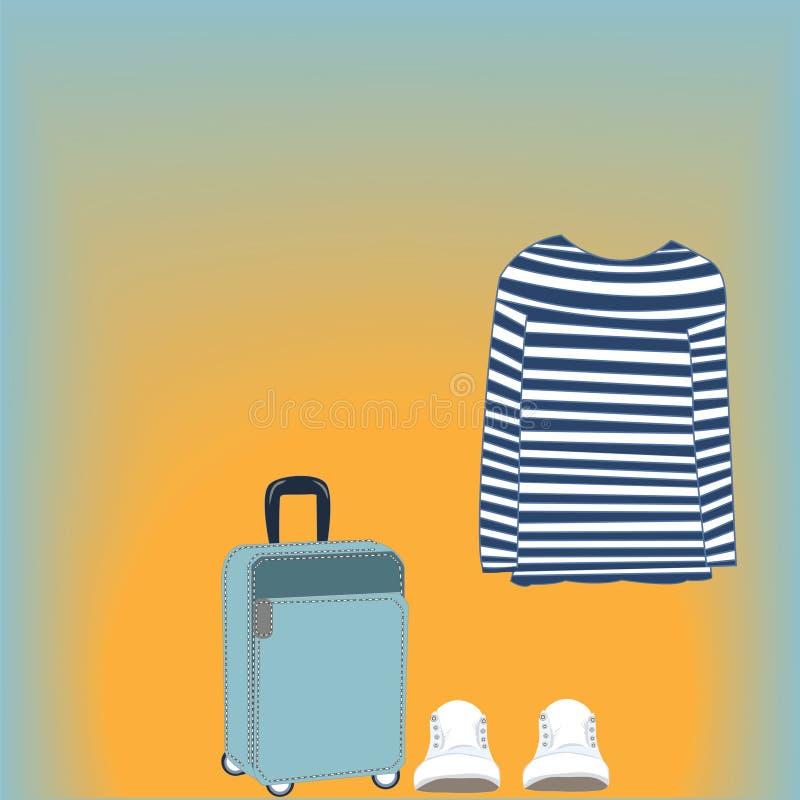 Download Camisa Rayada De La Tarjeta Stock de ilustración - Ilustración de traje, verano: 42425671