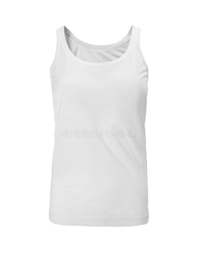 Camisa sin mangas aislada en blanco foto de archivo libre de regalías