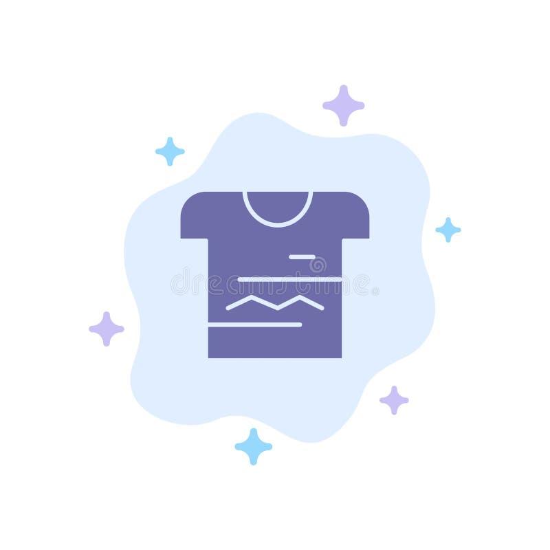 Camisa, Tshirt, pano, ícone azul uniforme no fundo abstrato da nuvem ilustração do vetor