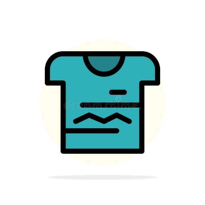 Camisa, Tshirt, pano, ícone liso da cor do fundo abstrato uniforme do círculo ilustração do vetor