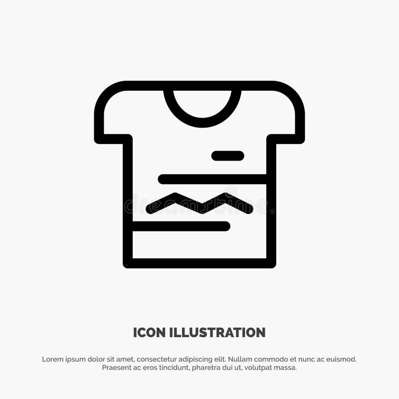 Camisa, Tshirt, pano, linha uniforme vetor do ícone ilustração do vetor