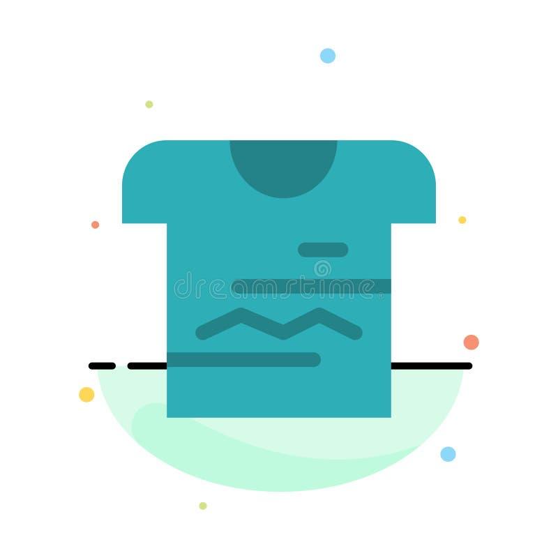 Camisa, Tshirt, pano, molde liso abstrato uniforme do ícone da cor ilustração stock