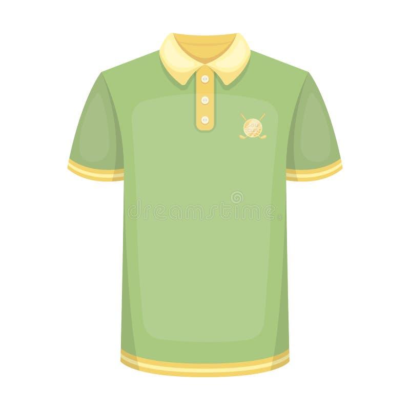 Camisa uniforme para el golf Solo icono del club de golf en web del ejemplo de la acción del símbolo del vector del estilo de la  stock de ilustración