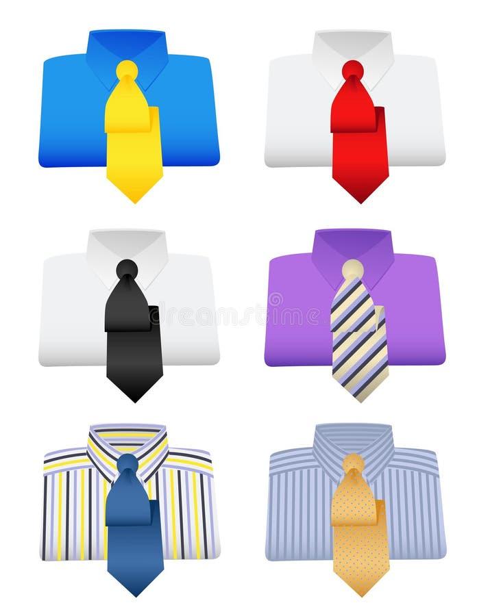 Camisas ilustração stock
