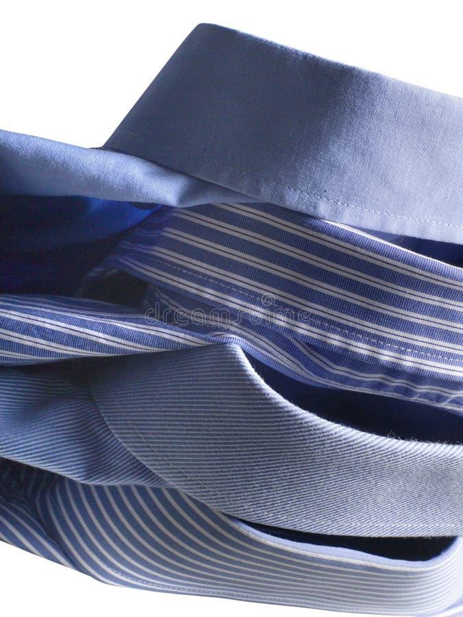Camisas azuis imagens de stock royalty free