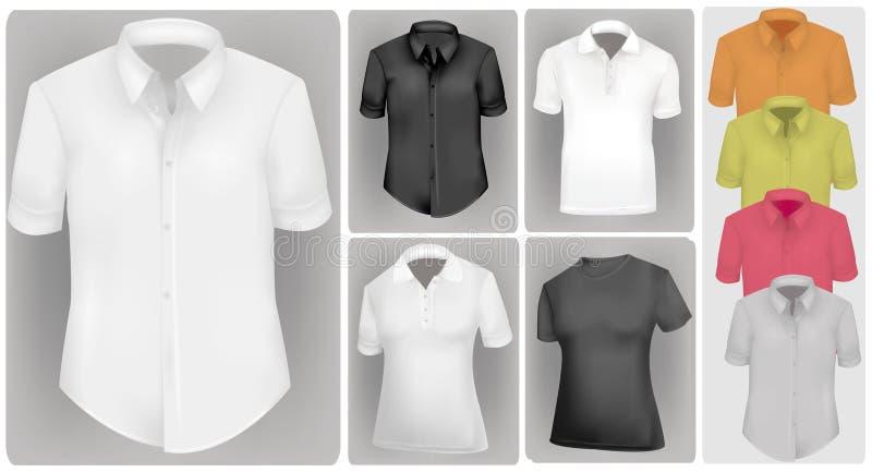 Camisas coloreadas. ilustración del vector