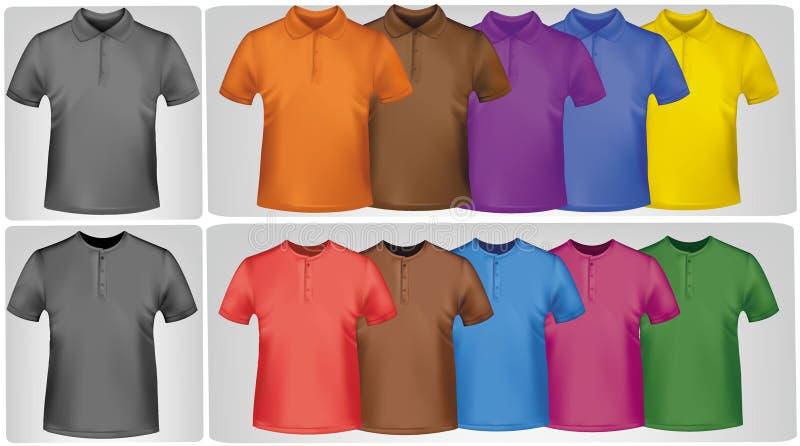 Camisas coloreadas. stock de ilustración