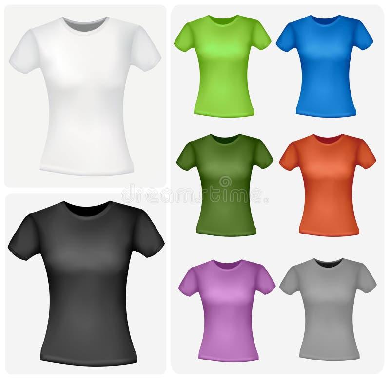 Camisas coloreadas (mujeres). stock de ilustración