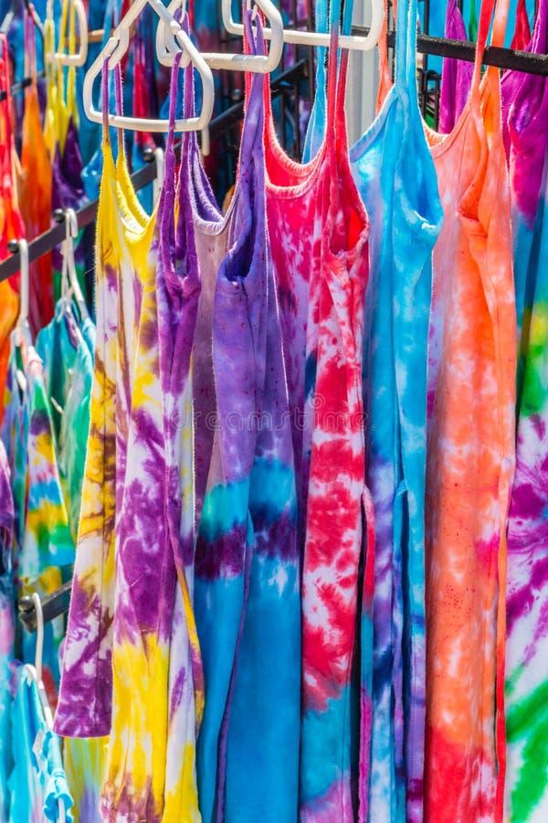 Camisas da tintura do laço fotos de stock royalty free