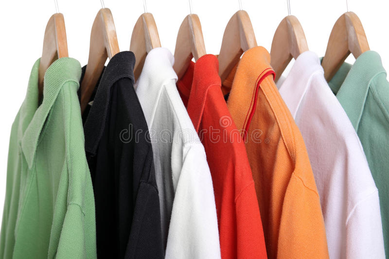 Camisas de polo imagens de stock royalty free