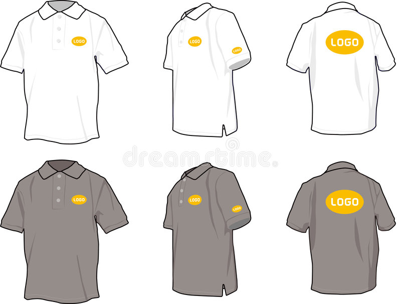 Camisas de polo ilustração do vetor