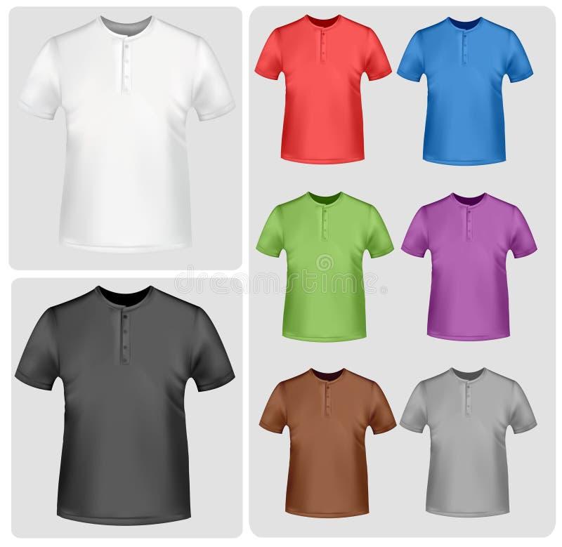 Camisas de polo coloreadas. stock de ilustración