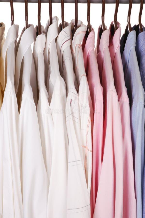 Camisas de vestido imagem de stock royalty free