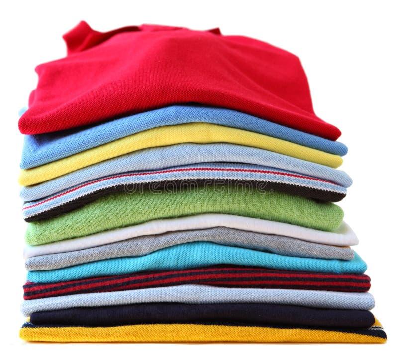 Camisas del color imagen de archivo
