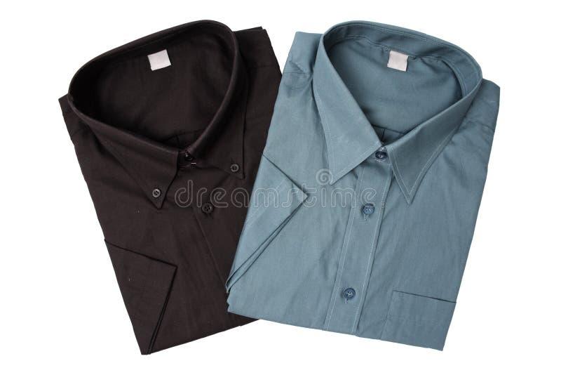Camisas del color oscuro imagen de archivo