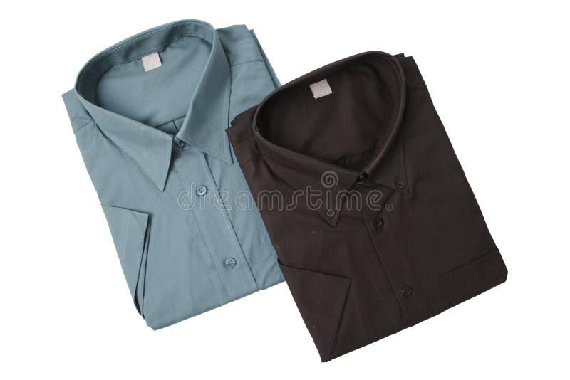 Camisas del color oscuro foto de archivo libre de regalías