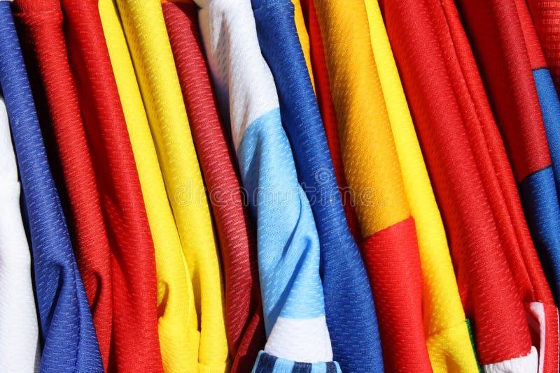 Camisas do futebol fotos de stock