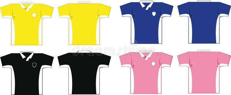 Camisas do futebol ilustração stock