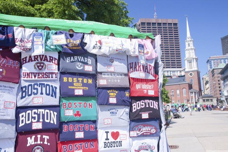 Camisas e ruas de Boston   imagens de stock