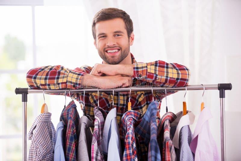 Camisas em cada dia imagens de stock