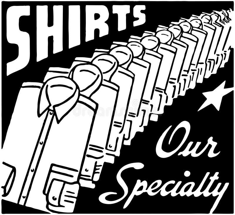Camisas nossa especialidade ilustração stock