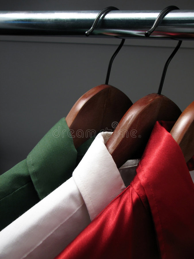 Camisas que representam a bandeira italiana foto de stock royalty free