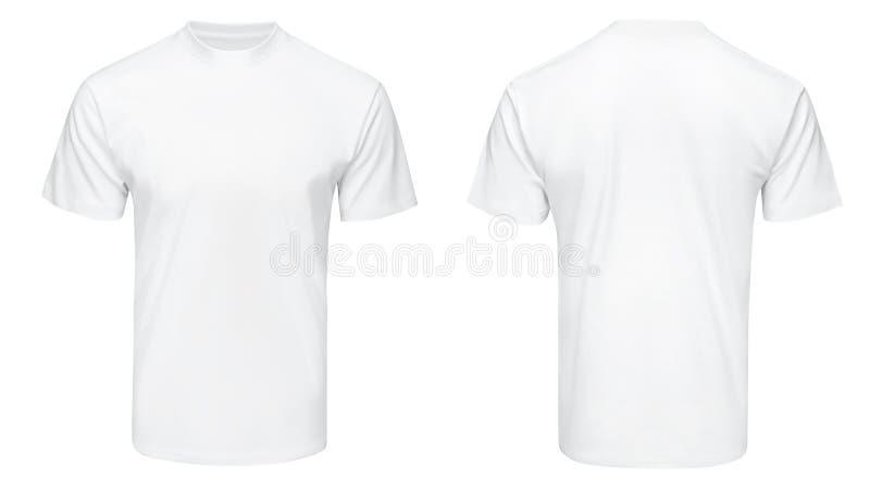 Camiseta blanca, ropa en aislado fotos de archivo libres de regalías