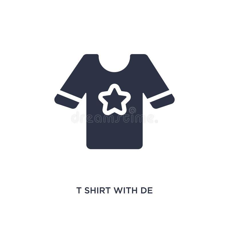 camiseta con de icon en el fondo blanco Ejemplo simple del elemento del concepto de la ropa libre illustration