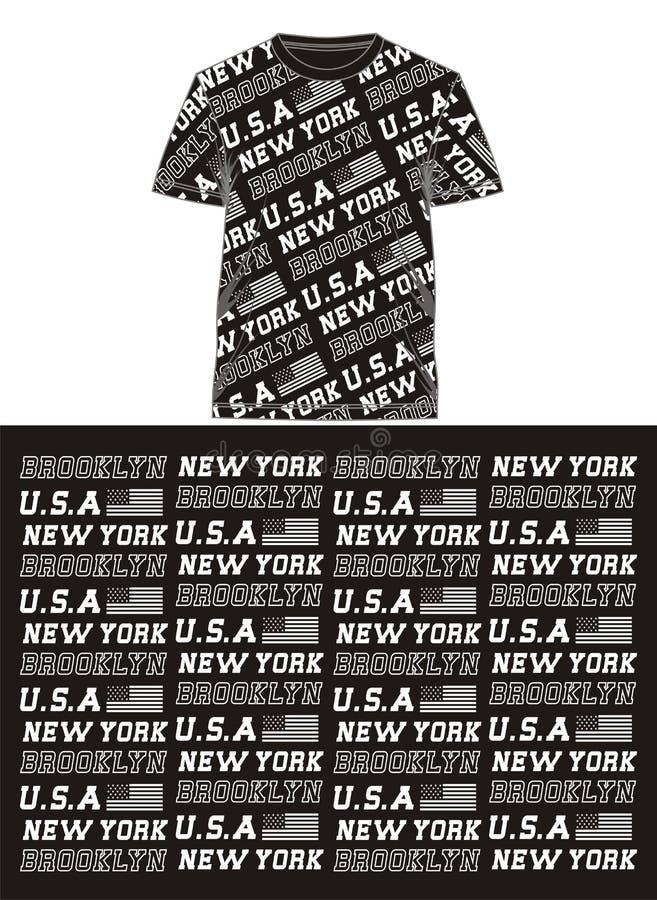01 camiseta de la impresión de la pantalla de los E.E.U.U. de la bandera de la tipografía, ilustración del vector