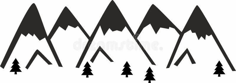 Camiseta de las montañas ilustración del vector