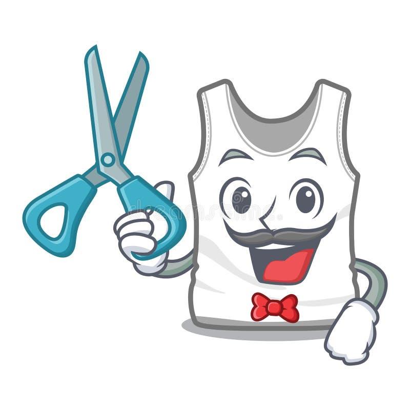 Camiseta del peluquero en la forma de la mascota de a libre illustration