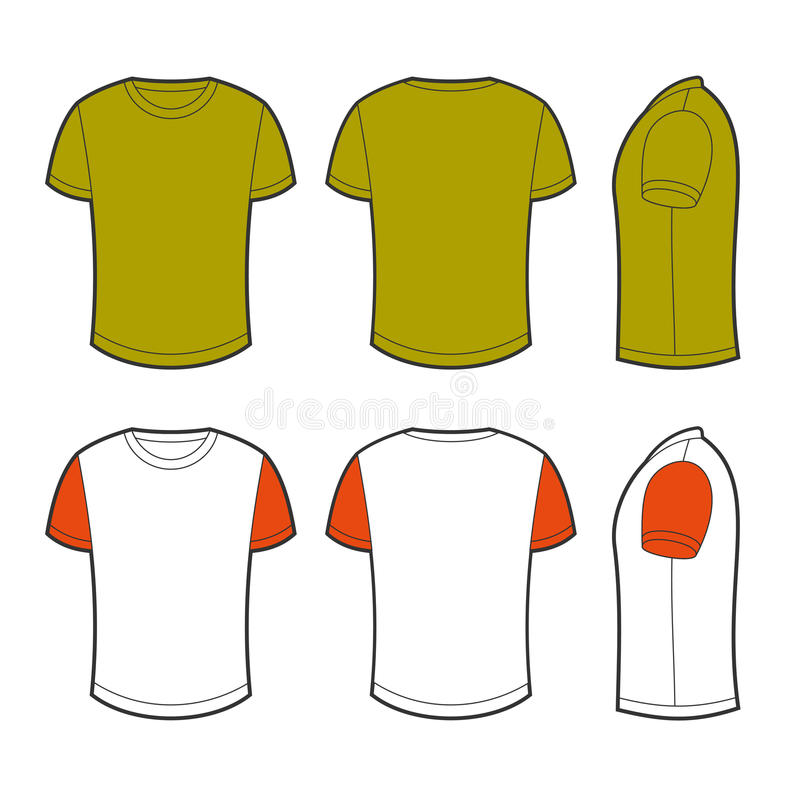 Camiseta en blanco stock de ilustración