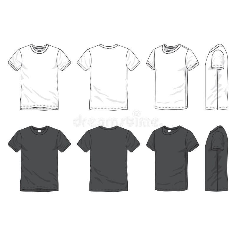 Camiseta en blanco ilustración del vector
