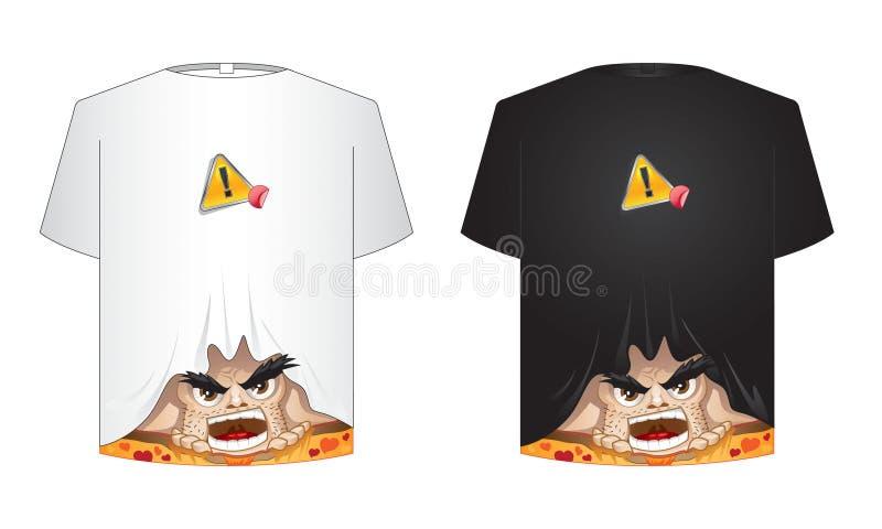 Camiseta loca ilustración del vector