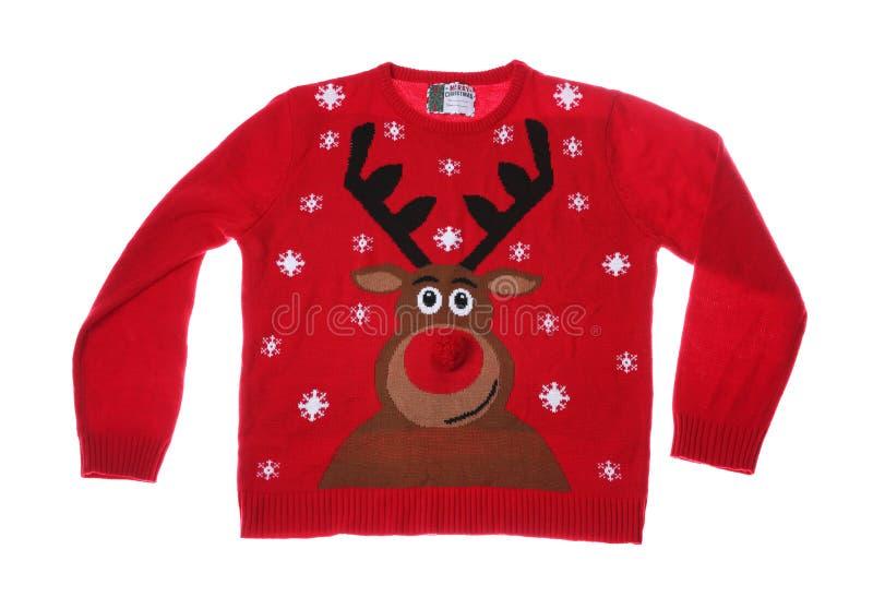 Camiseta morna do Natal no fundo branco imagem de stock royalty free
