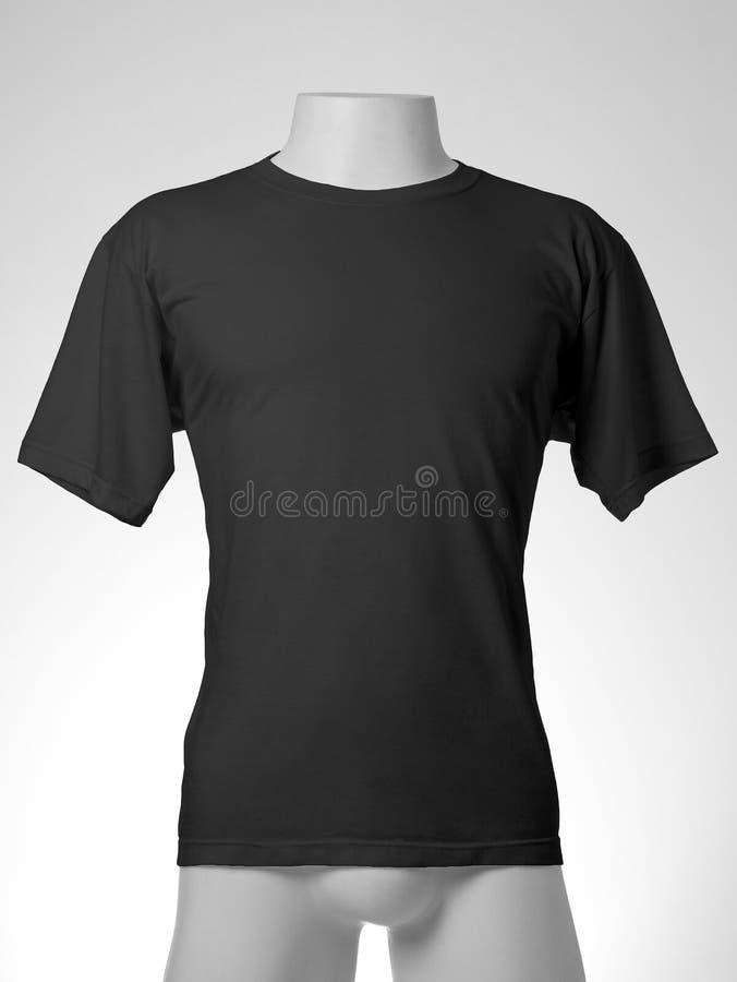 Camiseta negra imagen de archivo libre de regalías