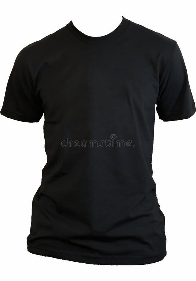 Camiseta negra en blanco imagen de archivo libre de regalías