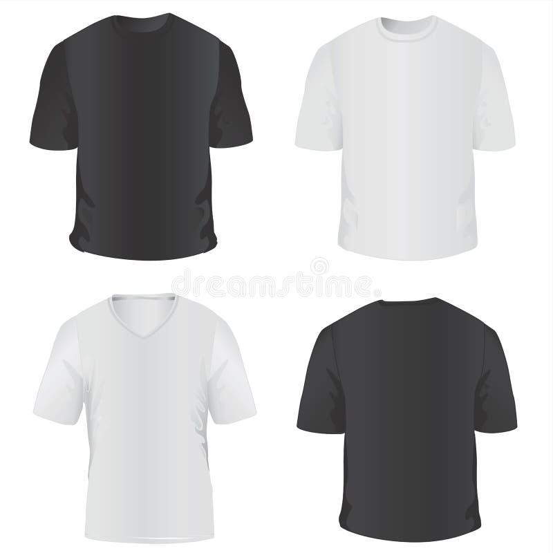 camiseta para el vector de los hombres ilustración del vector