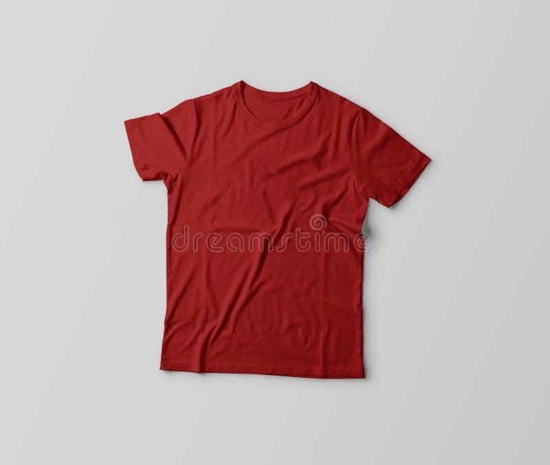 Camiseta roja aislada en el fondo de plata imagen de archivo libre de regalías