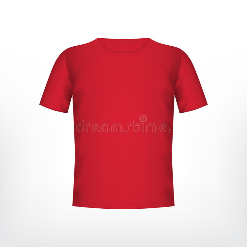 Camiseta roja para hombre stock de ilustración