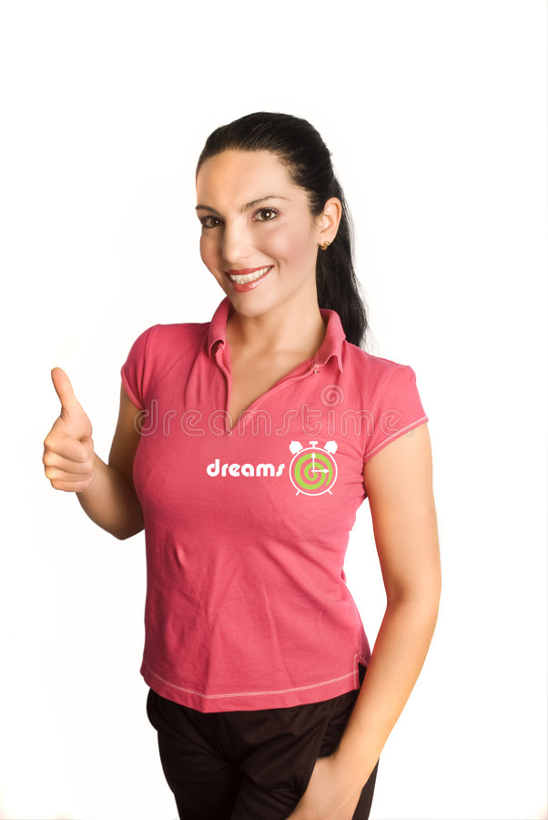 Camiseta rosada de Dreamstime fotografía de archivo libre de regalías