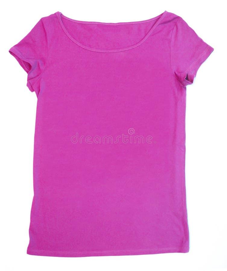 Camiseta rosada en blanco fotos de archivo