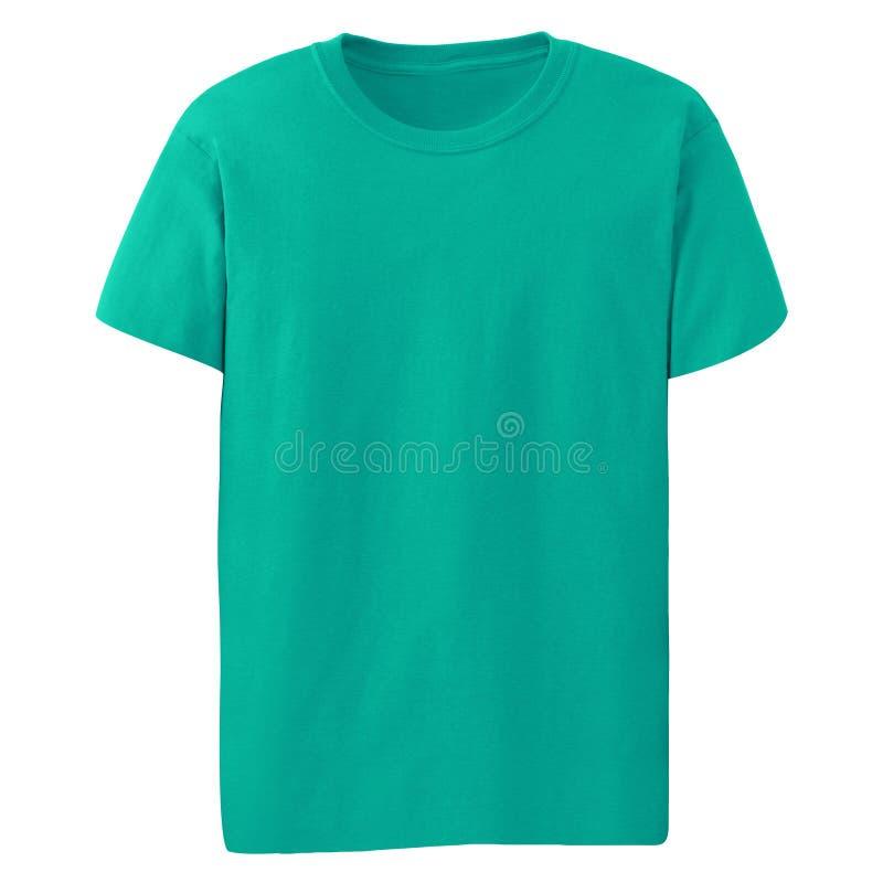 Camiseta verde aislada fotos de archivo