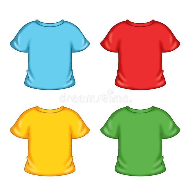 Camisetas coloreadas ilustración del vector