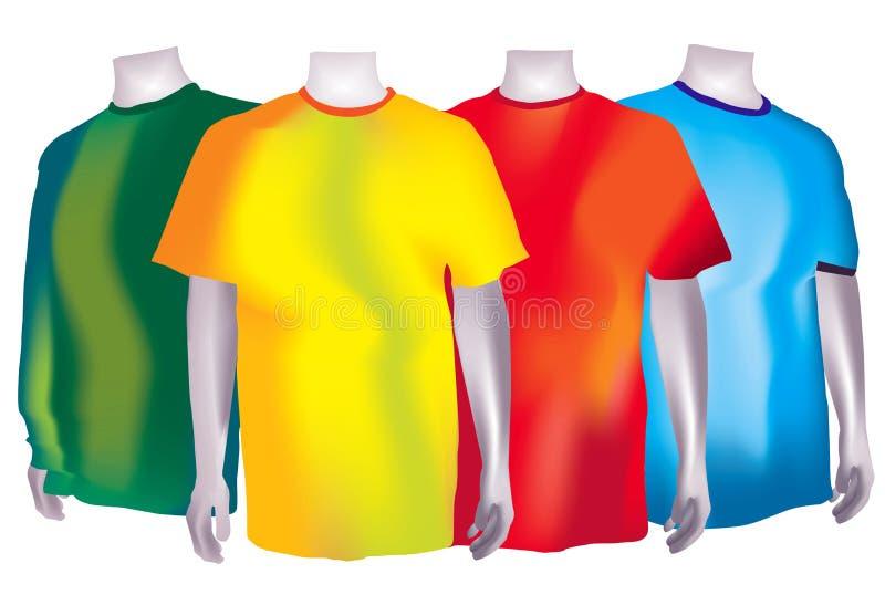 Camisetas coloridas ilustración del vector