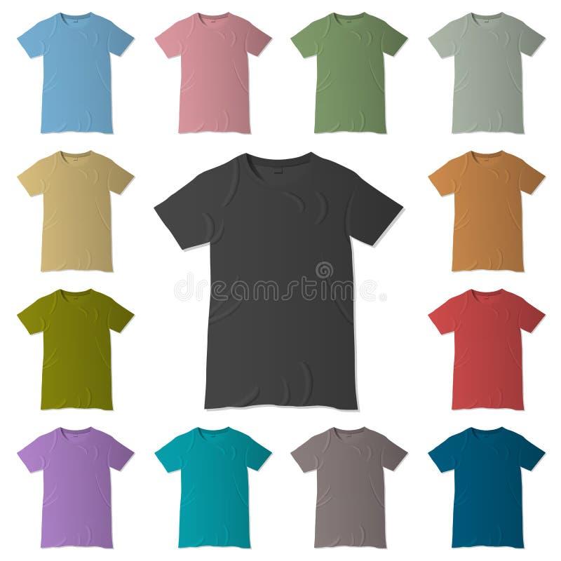 Camisetas del vector stock de ilustración