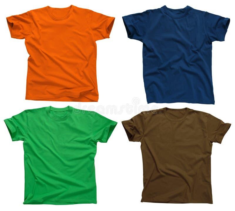Camisetas en blanco 4 imagenes de archivo