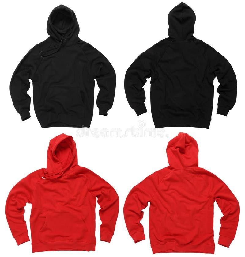 Camisetas en blanco del hoodie imagen de archivo